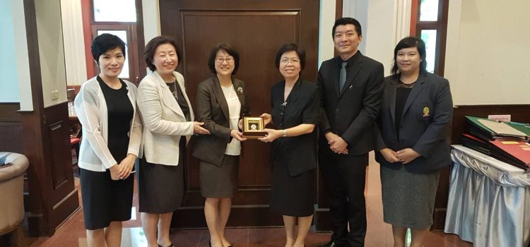 [News from the International Affairs Section] Meeting with Ewha Womans University